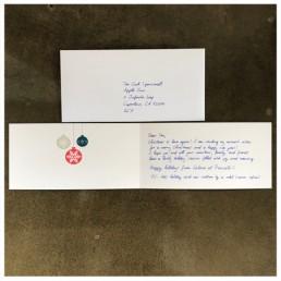 Stilvolle Weihnachtskarte in Handschrift von Pensaki