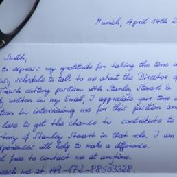 handschriftliche Briefe drücken Wertschätzung aus und steigern die Rücklaufquote