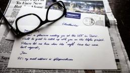 handschriftliche Briefe Roboter Pensaki